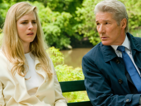 Brit Marling and Richard Gere in Arbitrage