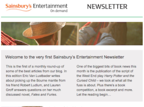 Sainsbury's August Newsletter - front page banner