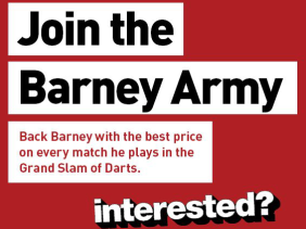 Press ad for PartyBets: Join the Barmy Army - Interested?