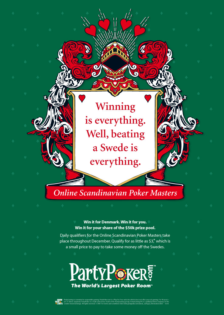 PartyPoker press ads 'Take on the World' - Beating a Swede